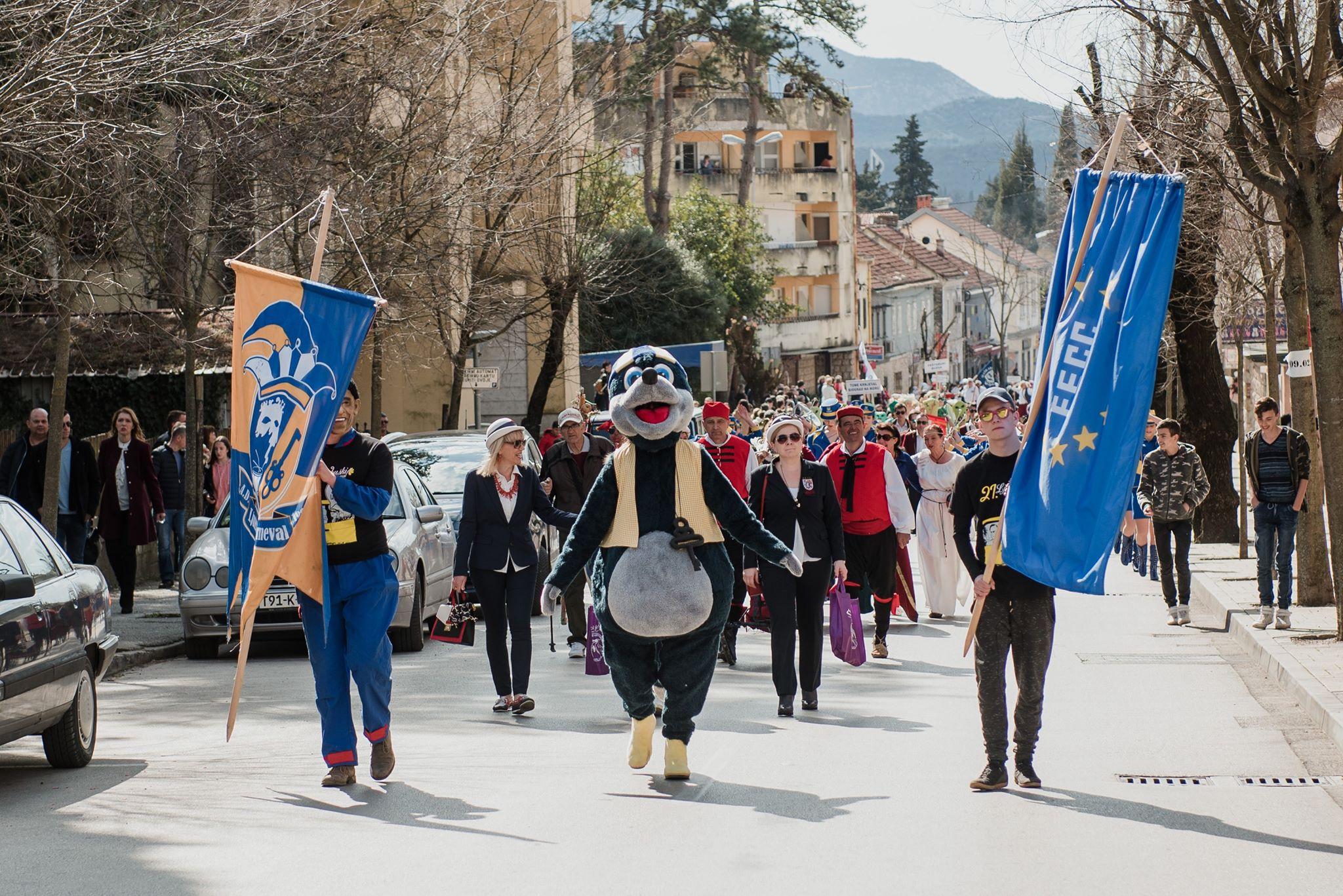 Ljubuški karneval 2019. međunarodna povorka gradskim ulicama